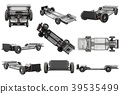 Chassis frame car set 39535499