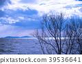 lake biwa, winter, lake 39536641