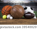 Sports balls with equipment 39540020