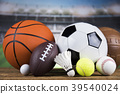 Group of sports equipment 39540024