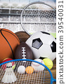 Sports balls with equipment 39540031