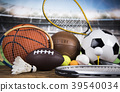 Group of sports equipment 39540034