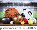 Group of sports equipment 39540077