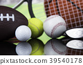 Sports balls with equipment 39540178