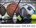 Group of sports equipment 39540182