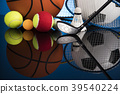 Sports balls with equipment 39540224