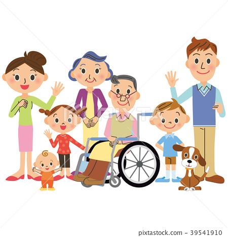 nursing, three generation family, vector 39541910