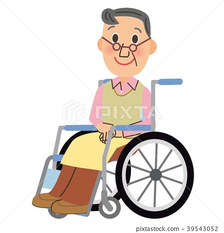 輪椅 矢量 老人 39543052