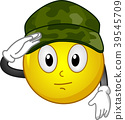 Smiley Mascot Military Salute Illustration 39545709