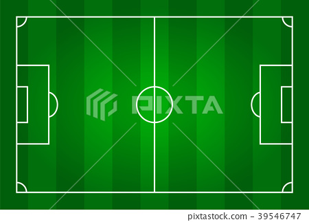 Green color football stadium field .  39546747
