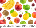 Seamless pattern of different fruits and berries 39557965