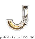 Mechanic alphabet ,letter J  39558861