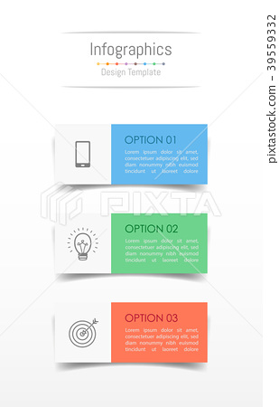Infographic design elements with 3 options. 39559332