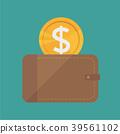 wallet flat design 39561102