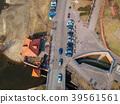 Aerial view of street in Grudziadz, Poland 39561561