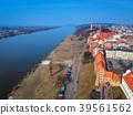 Aerial view of Grudziadz old town, Poland 39561562