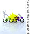交通問題摩托車和自行車碰撞 39563665