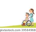 看護人 輪椅 老人 39564968