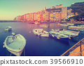 Image of Portovenere La Spezia city at sea view 39566910