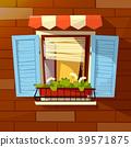 House facade vector cartoon illustration of old 39571875