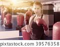 Portrait of woman boxer 39576358