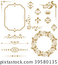 element, floral, monogram 39580135