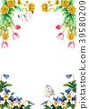 水彩畫的春天花框架材料 39580209