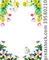 水彩畫的春天花框架材料 39580210