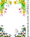 水彩畫的春天花框架材料 39580211