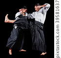 Martial arts fighters isolated 39581637