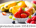 Fresh assorted fruits and berries 39583944