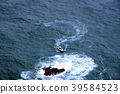 The boat at sea is like a question mark around the rock 39584523