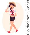 Cartoon character vector design female woman girl 39585819