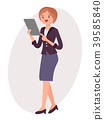 Cartoon character vector design female woman girl 39585840