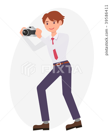 Cartoon character vector design male man standing 39586411