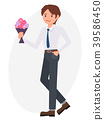 Cartoon character vector design male man standing 39586450
