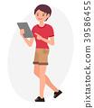 Cartoon character vector design male man standing 39586455