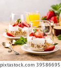 Healthy breakfast with granola and berries 39586695