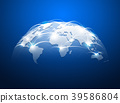 Abstract world map with network internet 39586804