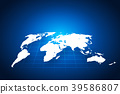 Abstract world map vector illustration. 39586807