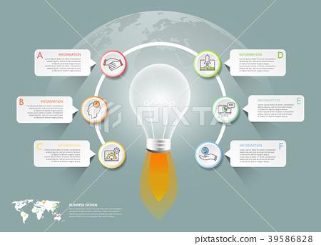 Design lightbulb infographic 6 options 39586828