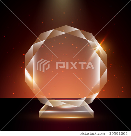 Blank Transparent Acrylic Glass Trophy Award - Stock