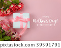 Top view of decoration Happy mothers day holiday 39591791
