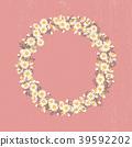 floral, wreath, round 39592202