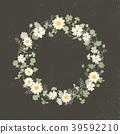 wreath, frame, round 39592210