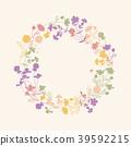 floral, wreath, pastel 39592215