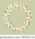 floral, wreath, chamomile 39592216