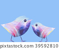 Unusual funny beauty abstract pair of birds 39592810