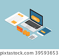 online taxes payment vector isometric 39593653