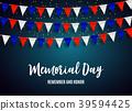 memorial, flag, vector 39594425